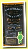 Caperdonich 23 yo 1980/2004 (58%, Cadenhead, Authentic Collection, bourbon hogshead, 252 bottles)